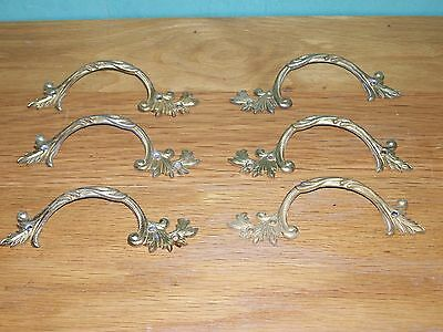 6 ORNATE DOOR DRAWER HANDLES SHABBY CHIC VINTAGE RETRO 130mm MADE IN ENGLAND