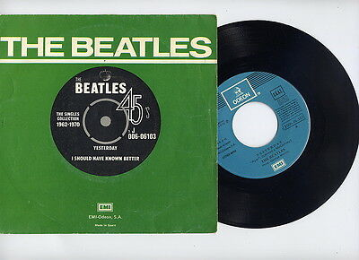 Beatles Spain 45 Ps Yesterday Singles 1962-1970 Num.7. Portada Especial Promo