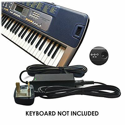 DC 9V Power Supply Adapter for Casio CTK-3000, CTK-4000, HT-700 Keyboard Piano