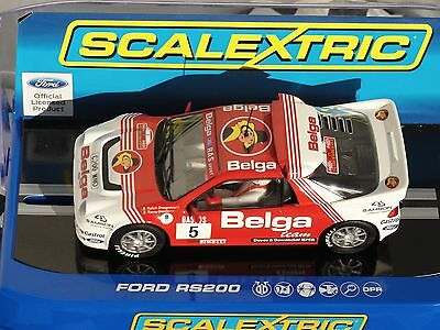 Scalextric Ford Rs200  24Hr Rally D'yrpres 1986  #5 White/red C3637  1.32  Bnib