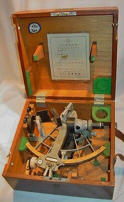 Old Tokyo Tamaya Sextant w Case  in Used Estate Condition