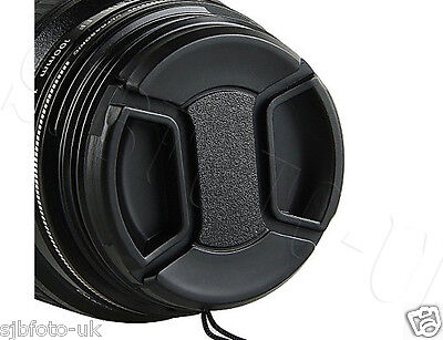 37Mm Generic Centre-Pinch Clip-On Front Lens Cap For Sony Panasonic Olympus