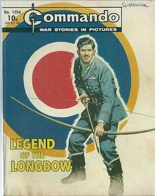 Legend Of The Longbow,commando War Stories In Pictures,no.1354,war Comic,1979