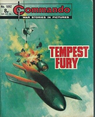 Tempest Fury,commando War Stories In Pictures,no.1092,war Comic,1977