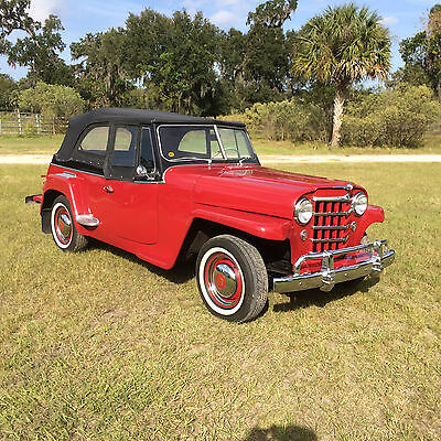 1950 Willys Jeepster Chrome 1950 Willys Overland Jeepster nice driver