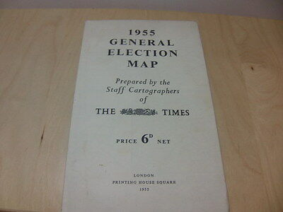 General Election Map 1955 – prepared by the Staff Cartographers of The Times