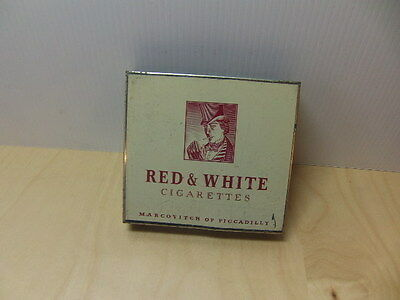 Markovitch of Piccadilly – Red & White Cigarettes tinplate packet Holder 1950s