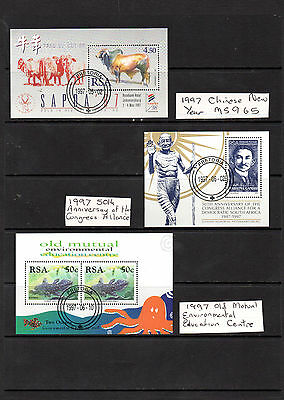 South Africa - 1997 Three (3) mini sheets used (1501)