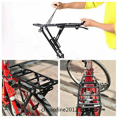 Bicycle Bike Cycling Alloy Rear Rack Pannier Carrier Seatpost Mount Release UK