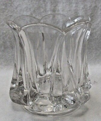 Lead Crystal Glass Scalloped Edge Toothpick Holder ( Clear) # 131