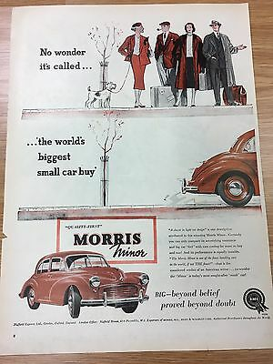 1955 MORRIS Car Vintage Original Advert (Minor / BMC) (L4)