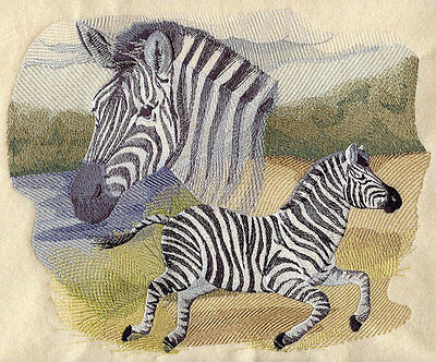 Large Embroidered Zippered Tote - Spirit of the Zebra J4091
