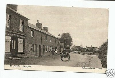 BDV Early Postcard, St. Neots, Hunts shows Rose & Crown Inn & Hites Store 1915