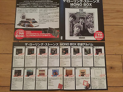 Rolling Stones-Japanese Import In Mono Cd Boxset Promo Foldout Flyer X 1