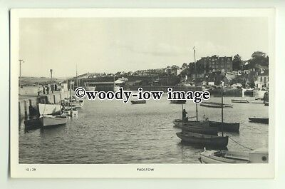 tp9875 - Cornwall - View of inside the Harbour & Town of Padstow - postcard