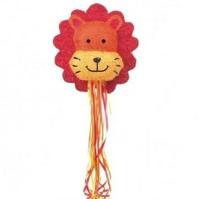 Lion Head Pull Pinata for Birthday Fete Party Game