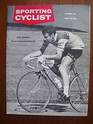 Vintage ' Sporting Cyclist ' Cycling Magazine November 1966 Issue Excellent Cond