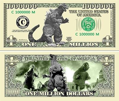 GODZILLA  Novelty Dollar with Protector and Free shipping