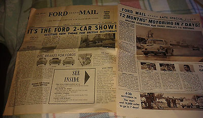 Ford Mail October 1960 Motor show publicity Zephyr Zodiac Anglia Popular