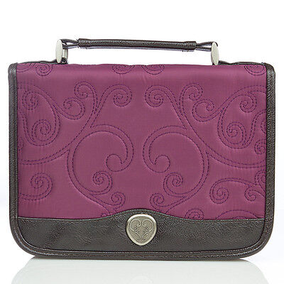 Quilted Bible Cover, Purple, Large