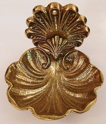 Solid Brass Vintage Sherle Wagner Style Soap Dish New Old Stock