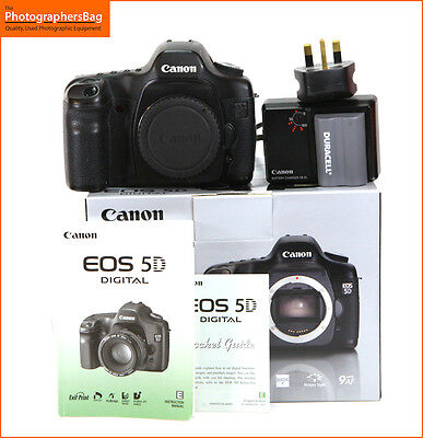 Canon EOS 5D 12.8MP  Digital SLR Camera Body, Battery, & Charger  + Free UK Post