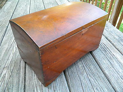 Antique Dome Top Wood Box