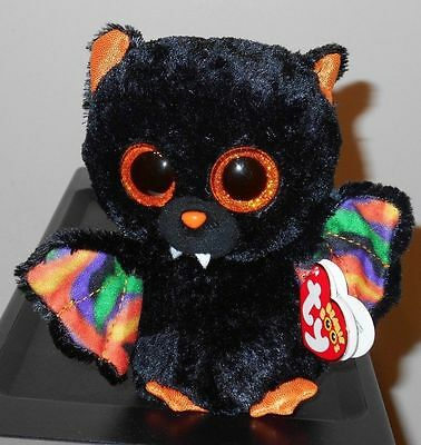 "Ty Beanie Boos ~ SCAREM the 6"" Black Bat ~ 2014 NEW - MWMT'S ~ RETIRED"