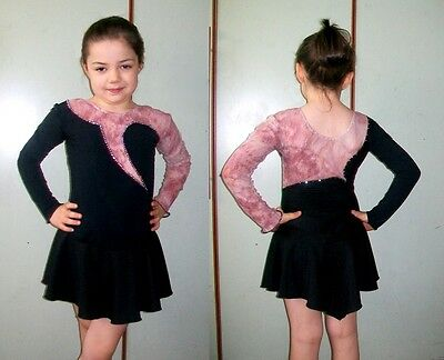 BODY per PATTINAGGIO ARTISTICO ragazza 8-10 anni NUOVO skating dress 8-10 years