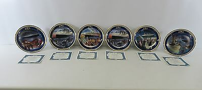 Set Of 6 The Bradford Exchange Titanic: Queen Of The Ocean Plates Boxed