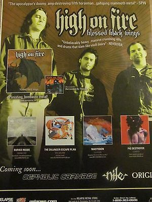 High on Fire, Blessed Black Wings, Full Page Promotional Ad