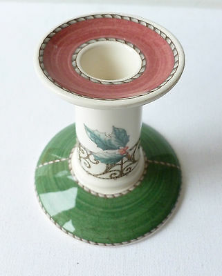 Wedgwood Sarah's Garden Candlestick 1997 Christmas Holly