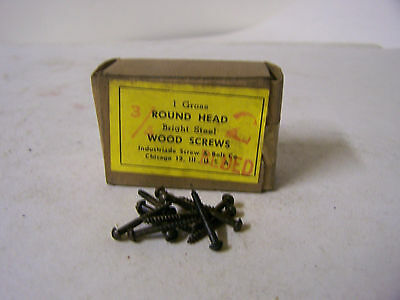 "#2 x 3/4"" Round Head Blued Wood Screws Slotted Made in USA Qty 144"