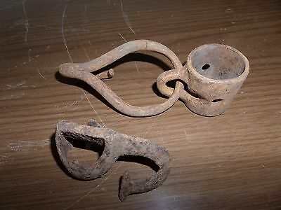 Pair Vtg Single Tree Iron Meat Hooks Hardware Restoration/repurposed Pinterest