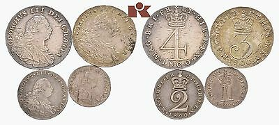 Straordinary Auction Start 1 $ King George Iii Maundy Set 1800 Rare High Grade