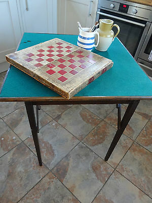 Large Square Folding Games Card Occasional Table
