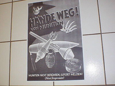 Copy Of Wwii German Live Ammunition Warning Poster, Panzerfaust!