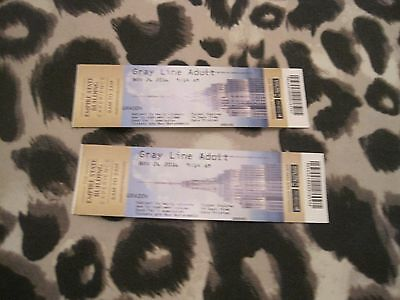 New York -2 x used tickets for empire state building experience - nov 26th 2016