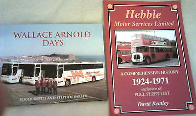 2 British Bus Company History Books - Wallace Arnold & Hebble Motor Services