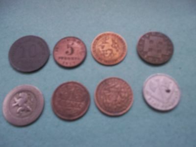 8 Mixed Antique/vintage Coins 1862-1942 [#b146] Well Worth Consideration Look
