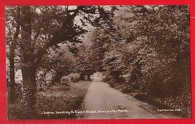 Surrey, Lane leading to Ewell road, Worcester park.  Postcard. S & W series