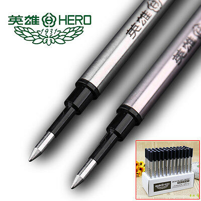 LOT HERO 3102 Rollerball Pen Gel Pen Ink Refills Black Universal Standard 11.1cm