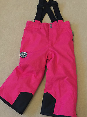 Girls Tog 24 Milatex Ski Trousers Bright Pink Age 3-4 Perfect Condition