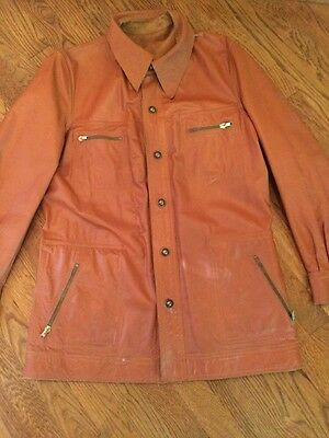 Vintage Rare 70s Men's Leather & Suede *Reversible* Jacket, Beautiful!