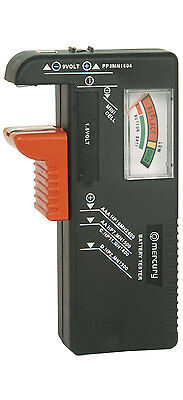 Battery Tester for Alkaline & Rechargeable AA AAA C D PP3 & Button Cells