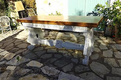 Antique French Extending Refectory Farmhouse Table Large