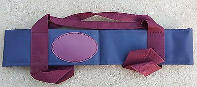 ACCLAIM Chatton Bowls Carrier Four Bowls Bowling Sling Navy Burgundy Sample