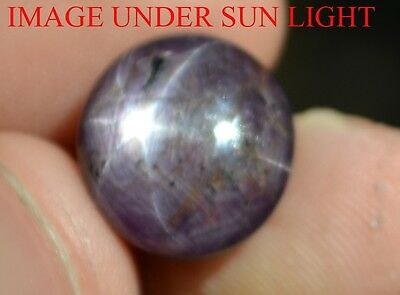 19.10 Cts NATURAL STAR RUBY/SAPPHIRE BEAUTIFUL UNHEATED UNTREATED {VIDEO} F532