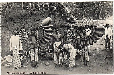 Old Postcard  Ethnic Musica Indigena From Lourenco Marques Mozambique Unposted