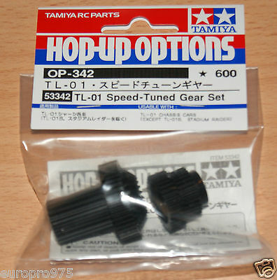 Tamiya 53342 TL-01 Speed-Tuned Gear Set (TL01/TL01RA/TL01LA/MF-01x), NIP